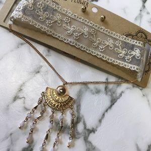 ‼️ Boho Chic Choker Statement Necklace Lace
